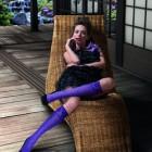 фиолетовые чулки