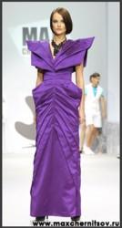 Вечернее платье насыщенного фиолетового цвета от MAX CHERNITSOV.