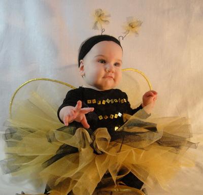 Детский новогодний костюм пчелки