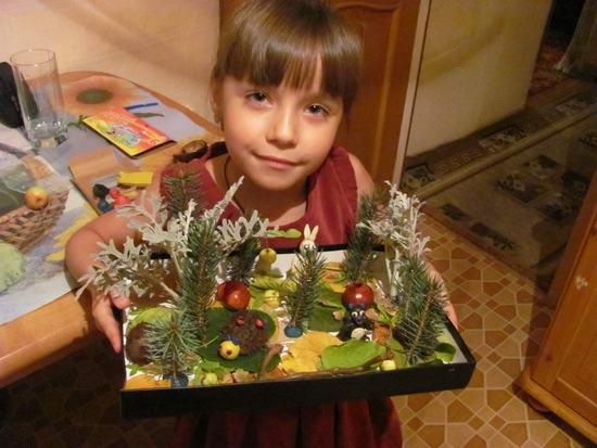 Лесные поделки в детский сад 53