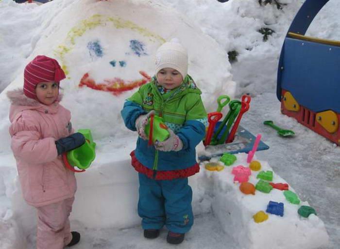 Оформление детского сада зимой