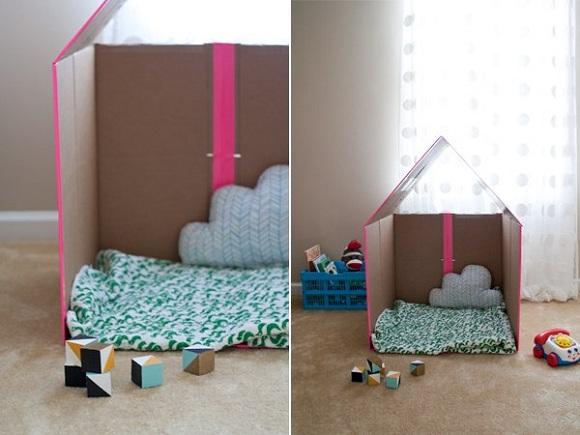 Схема сборки: картонный домик