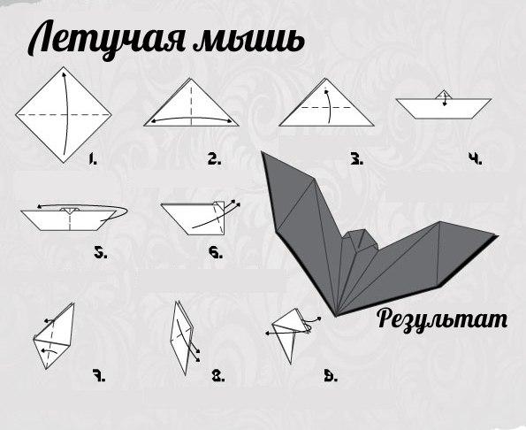 Простой тюльпан оригами