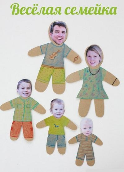 Аппликация веселая семейка мастер
