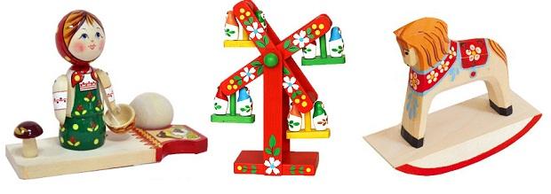 Игрушки из дерева для детского сада