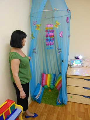 уголок уединения в детском саду