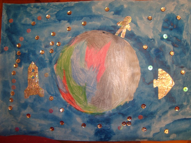 детские поделки на день космонавтики