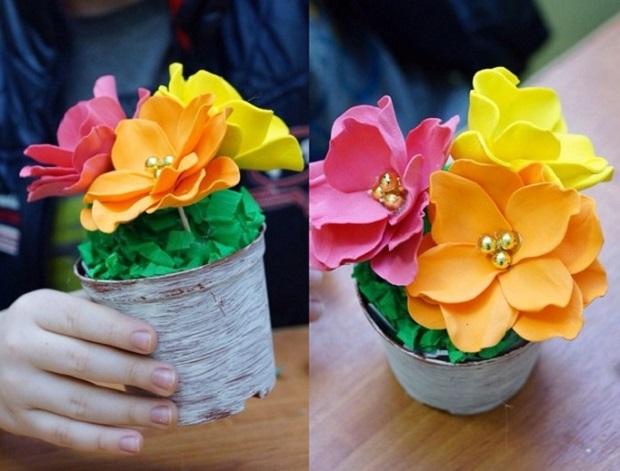 Цветы из пористой резины своими руками мастер класс