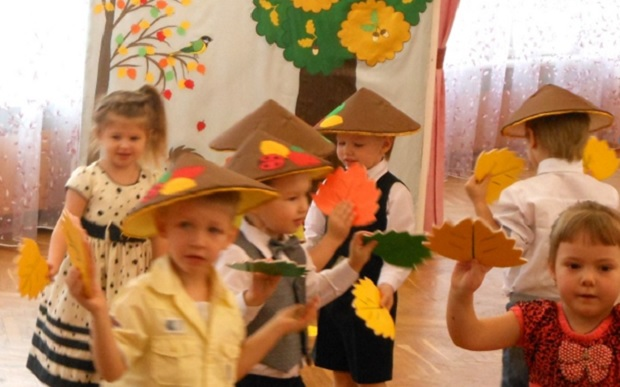 Сценарий осеннего праздника в средней группе «осень — русская.
