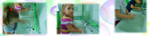 дети в детском саду моют руки