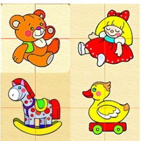 игрушки - разрезные картинки